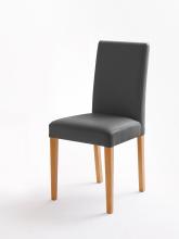 6 Stühle=Set Stuhl Küchenstuhl Esszimmerstuhl Polsterstuhl Fix 020ES179 Grau Eiche