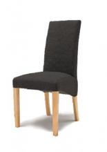 8 Stühle=Set Stuhl Küchenstuhl Esszimmerstuhl Polsterstuhl Foxi FOBNMEGB Graubraun Buche