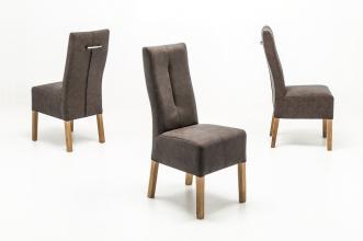 4 Stühle=Set Stuhl Küchenstuhl Esszimmerstuhl Polsterstuhl Fabius FBEHPABX Braun Eiche
