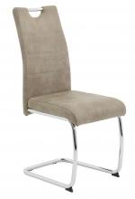 6 Freischwinger=Set Schwinger Stuhl Esszimmerstuhl Flora 70 Stoff Vintage Beige