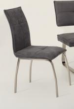 2 Stühle=Set Küchenstuhl Stuhl Esszimmerstuhl Nena 52/08 Webstoff Grau