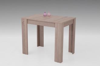 90-130x60 cm Esstisch Küchentisch Tisch Eva 63 ausziehbar Eiche Sonoma Dekor