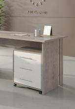 Rollcontainer Büro-Container 10245BO3 Beton & Weiß matt Dekor