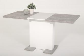 110-150 cm Esstisch Küchentisch Tisch Britt 04/13 Beton Weiß ausziehbar