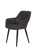 4 Stühle=Set Stuhl Küchenstuhl Wohnzimmerstuhl Sessel Roberta 46 Microfaser Anthrazit