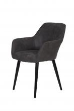 6 Stühle=Set Stuhl Küchenstuhl Wohnzimmerstuhl Sessel Roberta 46 Microfaser Anthrazit