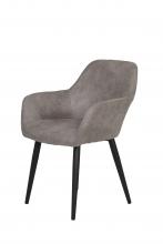 2 Stühle=Set Stuhl Küchenstuhl Wohnzimmerstuhl Sessel Roberta 50 Microfaser Grau
