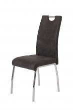 8 Stühle=Set Vierfussstuhl Stuhl Susi II S 46 Microfaser Vintage Anthrazit