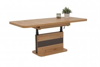 Funktionstisch Couchtisch Tisch Gustav 10/28 Artisan Eiche & Anthrazit, Ausziehbar, Verstellbar