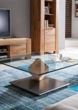 %CONTINUO% UVP 949¤ Couchtisch Tisch Stubentisch Conti 66 Wildeiche Massiv & Glas (ESG) Ilert