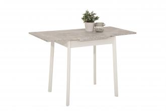 75-112x55 cm Esstisch Küchentisch Tisch Trier II 04/13 Beton Weiß Dekor ausziehbar