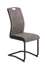 2 Freischwinger=Set Schwinger Stuhl Tabea II 50/03 Grau Schwarz Microfaser Kunstleder
