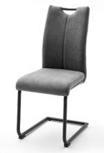 2 Freischwinger = SET Schwinger Schwingstuhl Küchenstuhl Stuhl ADANA grau ADSS29GX