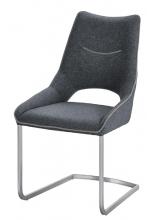 2 Freischwinger =Set Schwing - Stuhl ALDRINA grau ALKE39GX