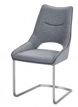 2 Freischwinger =Set Schwing - Stuhl ALDRINA hellgrau ALKE39HG